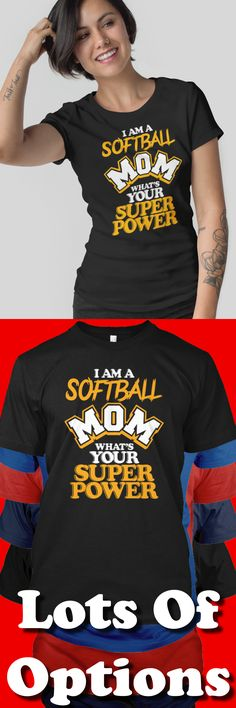 Softball Mom: Are You A Softball Mom? Wear Softball Mom Shirts? Great Softball Mom Gift! Lots Of Sizes & Colors. Like Softball, Funny Softball Mom Shirts, Softball Mom? Strict Limit Of 5 Shirts! Treat Yourself & Click Now! https://teespring.com/TP87-427