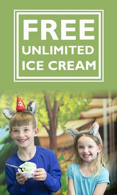 Celebrate a birthday at Great Wolf Lodge and get free birthday wolf ears and unlimited ice cream during your entire stay!