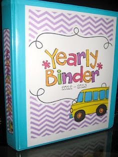 lots of cute printables - Make a binder for each year. Put your favorite pictures, things, etc. from school