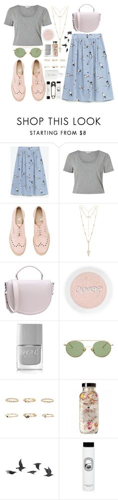 """Full of promises"" by carolsposito ❤ liked on Polyvore featuring Miss Selfridge, Attilio Giusti Leombruni, House of Harlow 1960, Christian Louboutin, Nails Inc., Acne Studios, River Island, Jayson Home, Diptyque and philosophy"