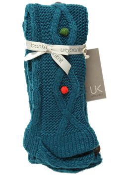 Warm legs all winter long should be the result of wearing these chunky textured, knee-high slipper socks. The great looking socks are made in a cable knit, with brightly coloured blackberry stitch bobbles down the front and back, along with a wooden Urban...