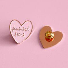 Feminist Bitch soft enamel lapel pin by ambivalentlyyours on Etsy https://www.etsy.com/listing/271553238/feminist-bitch-soft-enamel-lapel-pin