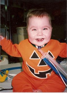 My lil' punkin'...Tyler's 2nd Halloween and still living at Children's Med Center of Dayton...Oct. 1991