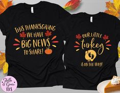 Thanksgiving Pregnancy Announcement, Pregnancy Announcement Shirt, Pregnancy Shirts, Thanksgiving Baby, Fall Baby, Valentines Day Baby, Boyfriend Style, Couple Shirts, Future Baby