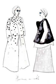 Erfahre, wie du deine deine eigenen Modezeichnungen erstellen kannst und auf was du achten musst + einfach Erklärung in 3 Schritten. Fashion Illustrations   Fashionsketch   Fashionsketchbook  ModeIillustration   Hermine on walk