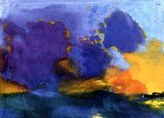 Sea with Light Violet Cloud Emil Nolde