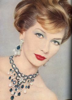 Trifari jewelry ad,1958
