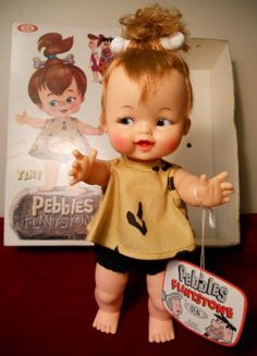 Pebbles. I have her friend Bam-bam. And I also have her, but I got her in a box, in pieces, and in need of hair and sewing repair. But I paid 2 euros for her, so she was worth it!