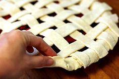 How To Make A Lattice Top For A Pie Crust