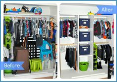 32 ideas for toddler closet organization dollar stores signs Big Boy Bedrooms, Kids Bedroom, Closet Bedroom, Bedroom Ideas, Toddler Closet Organization, Organization Ideas, Organizing, Organizar Closet, Boys Closet