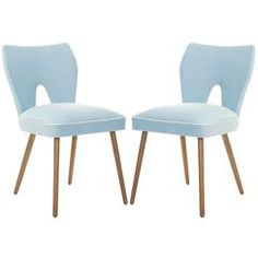 Love the colour of these chairs.