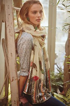 Parc Plume Scarf #anthropologie