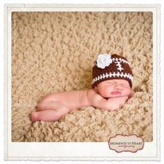 Hand Crocheted Baby Football Hat and Matching by MissWishGarden, $38.00