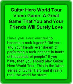 Guitar Hero World Tour Video Game: A Great Game That You and Your Friends Will Surely Love – CCMR TV News