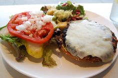 A Northstar (veggie) Burger at Northstar Cafe in Columbus, Ohio.