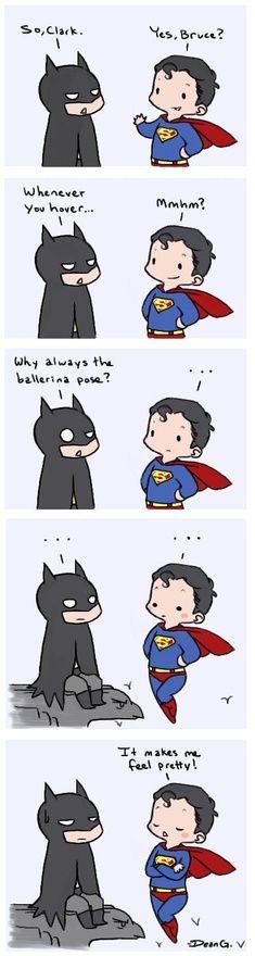 so clark... superman fancy pants batman dead pan