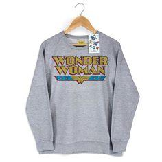 Moletinho Mescla Power Girls Wonder Woman Logo #WonderWoman #bandUPStore #LojaDCComics
