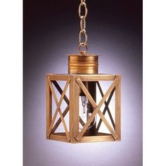 Northeast Lantern Suffolk 1 Light Outdoor Hanging Lantern Finish: Verdi Gris, Shade Type: Clear