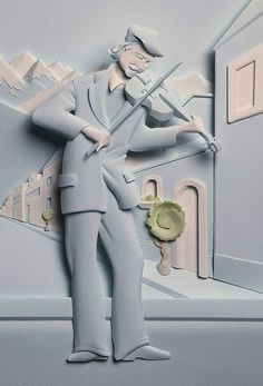 Superb paper sculptures by Carlos Meira - ego-alterego.com