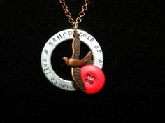 Cute as a button mouth like a sailor necklace. by LoveLsJewels, $15.00