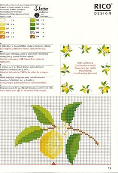 Most current Free of Charge cute table cloth ideas Ideas - I'm Susan My curtain site Cross Stitch Fruit, Cute Cross Stitch, Cross Stitch Cards, Beaded Cross Stitch, Cross Stitch Rose, Cross Stitch Flowers, Cross Stitching, Cross Stitch Embroidery, Embroidery Patterns