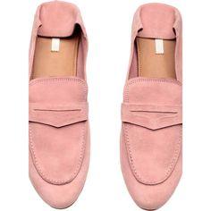 Loafers em camurça ($43) ❤ liked on Polyvore featuring shoes, loafers, loafer shoes, mule shoes, loafers moccasins and loafer mule