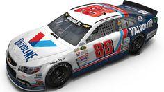 2015 Dale Earnhardt Jr. Darlington Valvoline throwback paint scheme