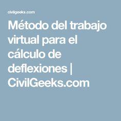 Método del trabajo virtual para el cálculo de deflexiones   CivilGeeks.com