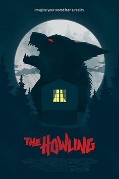 An alternative movie poster for the film The Howling, created by Maxime Crouzet, featured on AMP. Horror Movie Posters, Best Movie Posters, Movie Poster Art, Halloween Movies, Scary Movies, 1980's Movies, Arte Horror, Horror Art, Fan Poster
