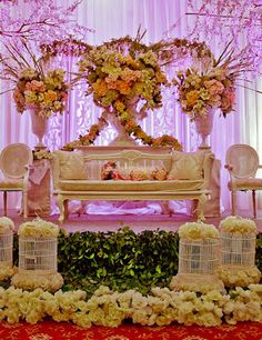 The white lilac mawarprada dekorasi pernikahan pelaminan 55 gambar dekorasi pelaminan minimalis modern dan klasik junglespirit Choice Image
