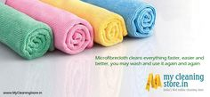 ‎Shop‬ the entire range of ‪Microfiber‬ ‎cloth‬ for ‪cleaning‬ from MyCleaningStore.in. Available in different colours, these clothes are easy to wash and remain gentle on your furniture and other surfaces — http://www.MyCleaningStore.in