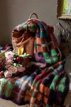 Love this tartan style blankey