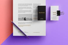 A simple but very effective branding design showcase mockup with essential stationery items. Use the smart object to present your project...