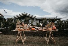Gather guests round our Macrocarpa grazing table with a spread of delicious food or drinks. Optional wooden trestle legs or white steel legs. Trestle Legs, Trestle Table, Wire Chair, Grazing Tables, Wedding Table Decorations, Weddings, Events, Wedding, Marriage