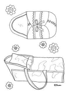 Karen`s Paper Dolls: Beds and Pools to Print and Colour. Senge og badebassiner…