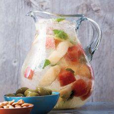 Melon Mint Sangria. Hello, Summer!