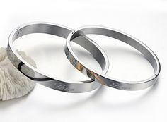 New Fashion Stainless Steel Couples Bracelets For Lovers ASMB145 1