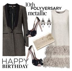 """""""Celebrate Our 10th Polyversary!"""" by clotheshawg ❤ liked on Polyvore featuring Lela Rose, PINGHE, Paris Hilton, Diane Von Furstenberg, polyversary and contestentry"""