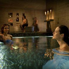 Entre Cielos, Argentina, Sicaklik. En el corazón del *hammam* se ubica una piscina de agua tibia que favorece la relajación y el descanso. Estancia para estabilizar la circulación. Crédito Walter Raymond