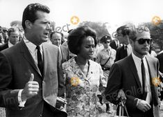 James Garner, Diahann Carroll, and Paul Newman at the March on Washington on August 28, 1963.