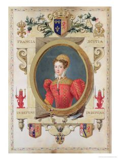 """Portrait of Mary Queen of Scots from """"Memoirs of the Court of Queen Elizabeth """" Published in 1825"""
