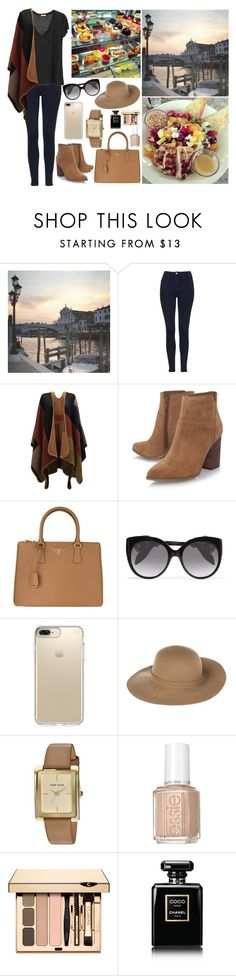 """""""Spending the day in Venice, Italy with some friends."""" by duchessamparo ❤ liked on Polyvore featuring WALL, Topshop, Nine West, Prada, Alexander McQueen, Speck, Armani Jeans, Anne Klein, Essie and Chanel"""