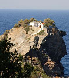 Skopelos | Church of Ayios Ioannis, used in the wedding scene of the film Mamma Mia!