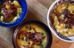 Mmmm, butternut/white bean/bacon soup.  Thanks to @Heather Beautythatmoves for the heads up!
