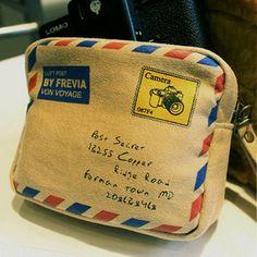 Princess sweet lolita bag Korean envelope storage bag pocket soft bread creative pouch coin card case coin bag