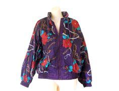 Women Windbreaker 80s 90s Windbreaker Jacket by TheVilleVintage, $54.99