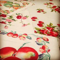 Vintage Wilendurs and two beautiful vintage tea towels