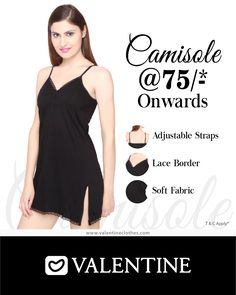 Slip into fairytale dreams with comfortable and fashionable Slips and Camisoles from Valentine starting at just Rs. 75/- Shop now at https://valentineclothes.com/inner/slip-and-camisole.html #Slips #Camisoles #Lingerie #Valentine #ValentineClothes #MadewithLove #HappyShopping