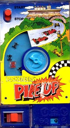 This is one seriously old memory :) Early gaming here - Pocketeers Pile UP 1970s Childhood, My Childhood Memories, Childhood Toys, Retro Toys, Vintage Toys, Retro Games, Kids Tv Programs, Pocket Game, Old School Toys