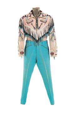 NUDIE THE RODEO TAILOR A pink and turquoise gabardine ensemble made by  Nudie for Roy 65f33e930
